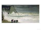 High Seas in Etretat  1868-69