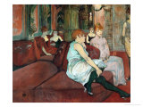 In the Salon at Rue Des Moulins  1894