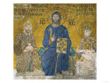 Christ Flanked by Emperor Constantine IX (1042-1054) and His Wife the Empress Zoe