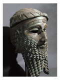 Male Head with Beard (Sargon)  from Niniveh  Bronze or Copper  Akkadian