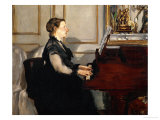 Madame Manet (Suzanne Leenhoff  1830-1906) at the Piano