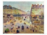 The Avenue De L'Opera  Sunlight  Winter Morning  Around 1880