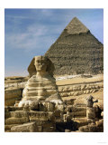 The Sphinx and Pyramid of Pharaoh Chefren