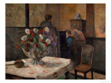 Still Life with Flowers  Interior of the Artist&#39;s Apartment  Rue Carcel  Paris