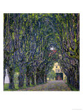 Tree-Lined Road Leading to the Manor House at Kammer, Upper Austria, 1912 Giclée par Gustav Klimt