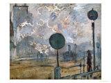 Gare St Lazare  the Semaphores  1877