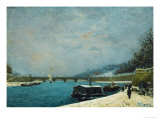 The Seine Near the Pont De Jena  Snow