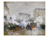 Streetside of the Gare St Lazare  Seen Towards the Tunnel of Batignolles  1877