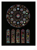 The Second Coming of Christ; Rose Window from the South Transept of Chartres Cathedral