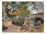 Garden in Vaugirard  or the Painter&#39;s Family in the Garden in Rue Carcel  1881