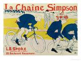 Poster for La Chaine Simpson, Bicycle Chains, 1896 Giclée par Henri De Toulouse-Lautrec
