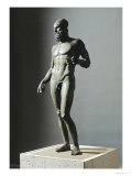 Riace Bronze (B)  Statue of a Young Man with Helmet