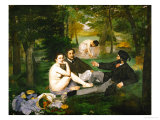 Dejeuner Sur L&#39;Herbe (Luncheon on the Grass)  1863