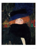 Lady with Hat and Feather Boa  1909