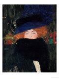 Lady with Hat and Feather Boa, 1909 Giclée par Gustav Klimt