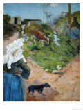Women of Brittany and Calf  1888
