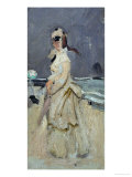 Camille  Monet's First Wife  on the Beach  1870