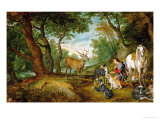 Rubens and Peter Brueghel the Younger: The Vision of Saint Hubertus
