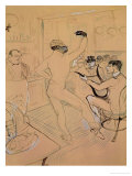 Chocolate Dancing in Achille&#39;s Bar  Drawing  1894