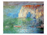 Etretat  the Cliff  Reflections on Water; 1885