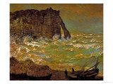 Storm at Etretat  1883