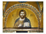 Byzantine Mosaic: Christ Pantocrator (Close-Up View of Mosaic in the Narthex)