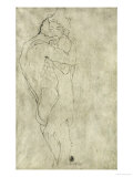 Lovers, Black Crayon (1908) Giclée par Gustav Klimt