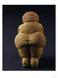 Venus of Willendorf (Back View)  Limestone  Aurignacian (Late Paleolithic)