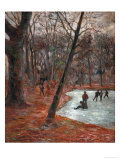Skaters in the Park in Frederiksberg  1884