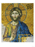 Christ  from the Deesis in the North Gallery  Byzantine Mosaic  12th Century