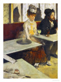 Dans Un Cafe or L'Absinthe  Ellen Andree and Marcellin Desboutin  Around 1875-1876