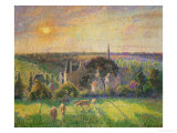 Landscape at Eragny: Church and Farm  1895