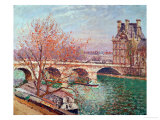 Pont Royal and the Pavillon De Flore  1903