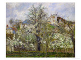 Trees and Flowers  Spring at Pontoise  1877
