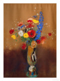 Bouquet of Wild Flowers in a Vase with Long Neck  1912  Gouache