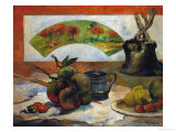 Still-Life with Fruits and Fan  circa 1888