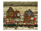 Two Blocks of Houses with Cloth Lines or the Suburbs (II)  1914