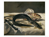 Eel and Red Mullet, 1864 Giclée par Édouard Manet