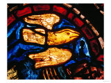 Noah Sends the Dove to See Whether the Waters Recede  from the Noah Window  13th Century
