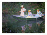 The Boat at Giverny (Or) the Norwegians  the Three Daughters of Mme Hoschede