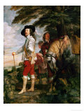 Charles I  King of England During a Hunting Party