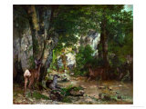 Deer Reserve at Plaisir Fontaine  1866