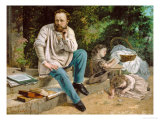 Pierre-Joseph Proudhon and His Children  1863