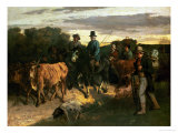 The Peasants of Flagey Returning from the Fair  1855