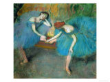 Two Dancers Resting  or Two Dancers in Blue  1898