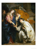 Mystic Engagement of the Beatified Hermann Joseph with the Virgin Mary  1630
