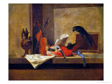 Musical Instruments and a Parrot