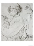 Painter and Patron (With Brueghel&#39;s Self-Portrait)  Drawing