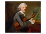 Young Man with Violin  Charles Theodore Godefroy  Eldest Son of the Jeweller Charles Godefroy