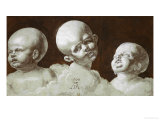 Studies of Heads  1506  Drawing